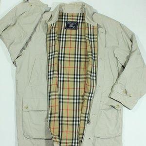 VTG Burberry Jacket Nova Plaid Check Tan Harringto